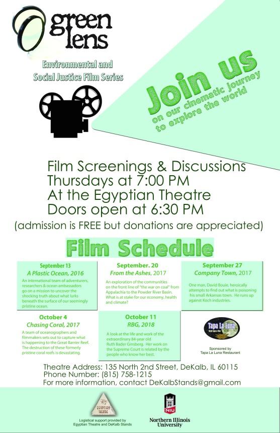 Green Lens Film Festival Poster - Revised FA18